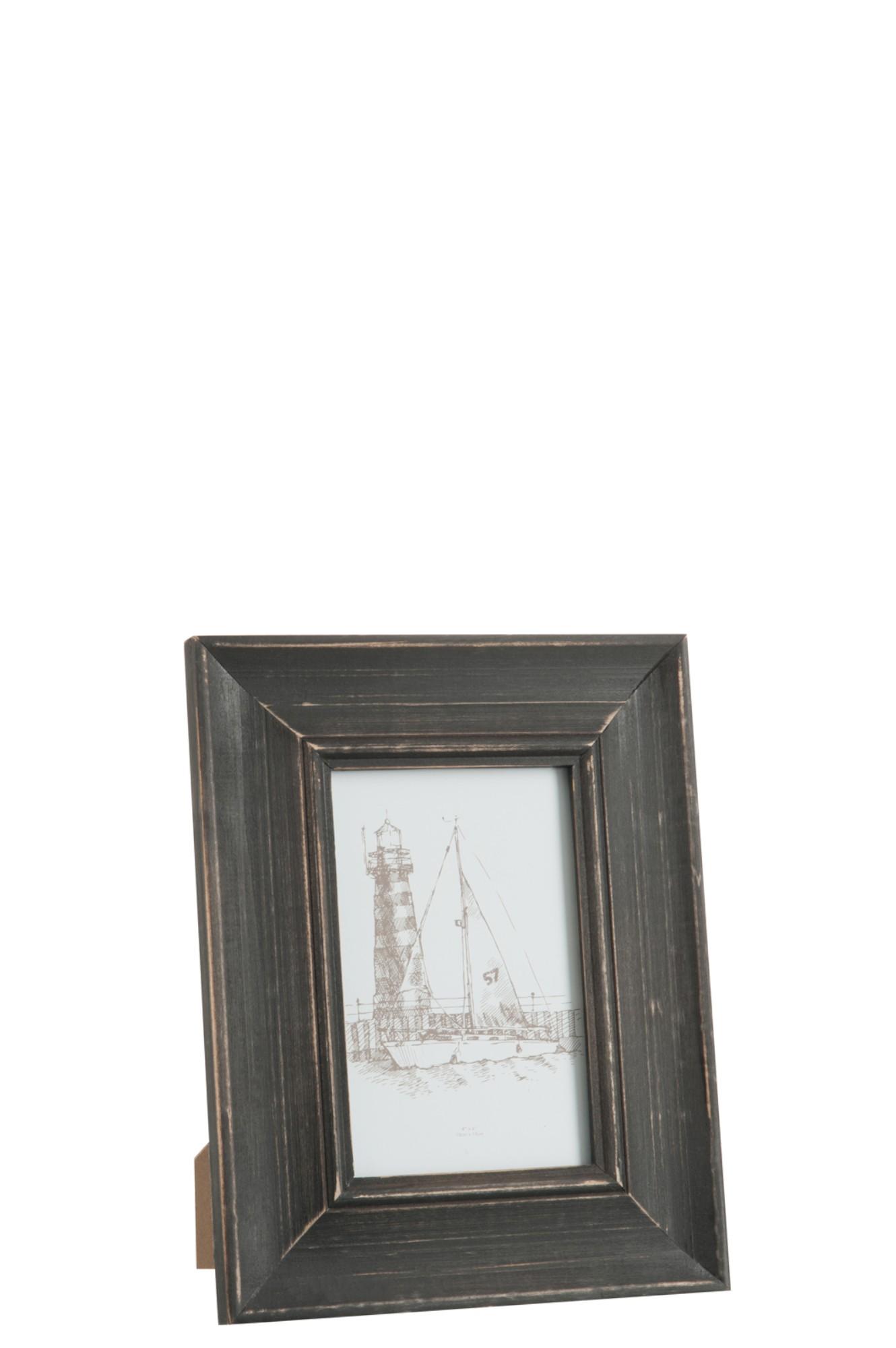 hout zwart 10x15cm J75429