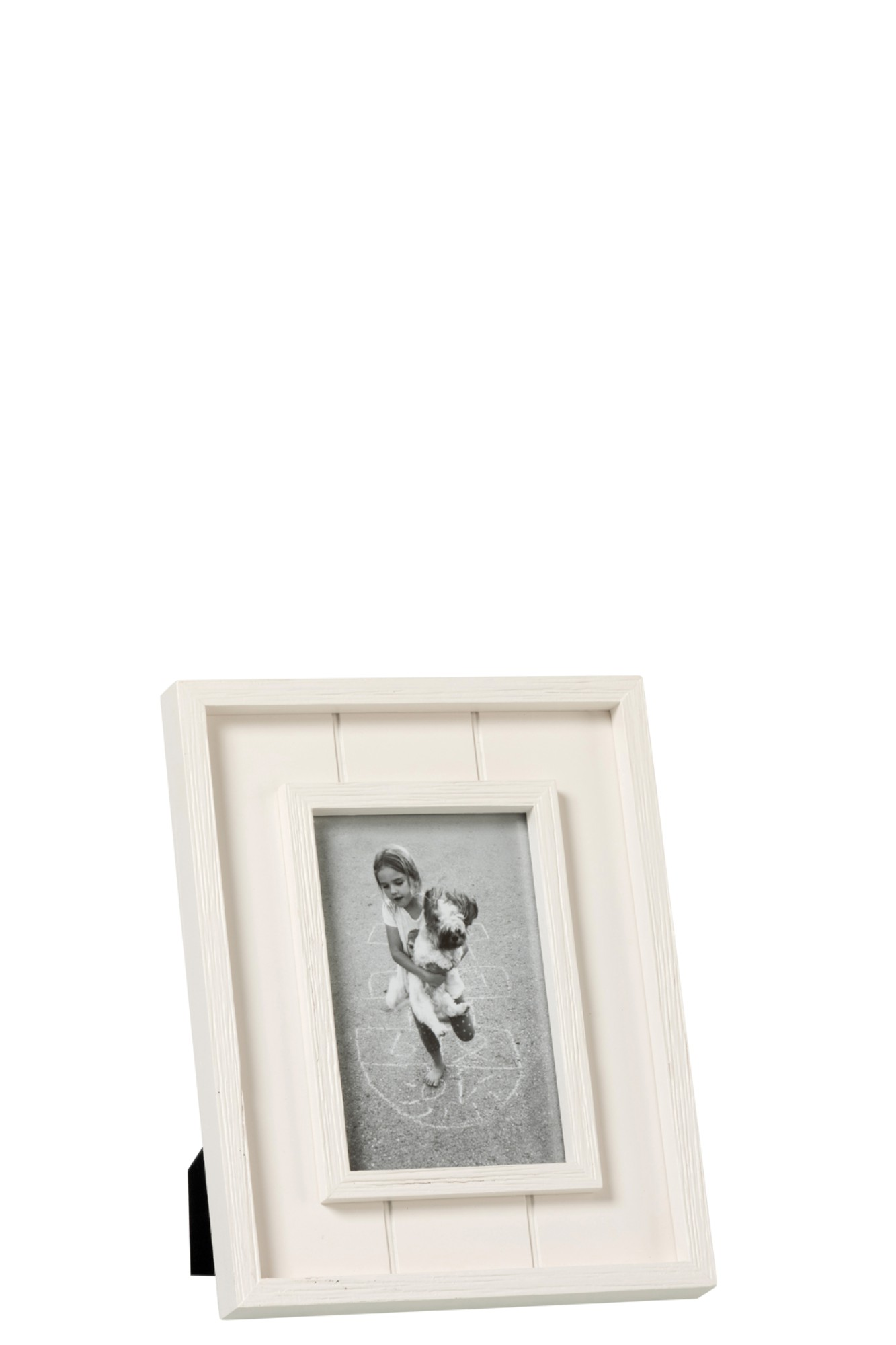 hout wit met rand 10x15cm J93139